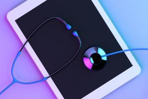 iPad with stethoscope